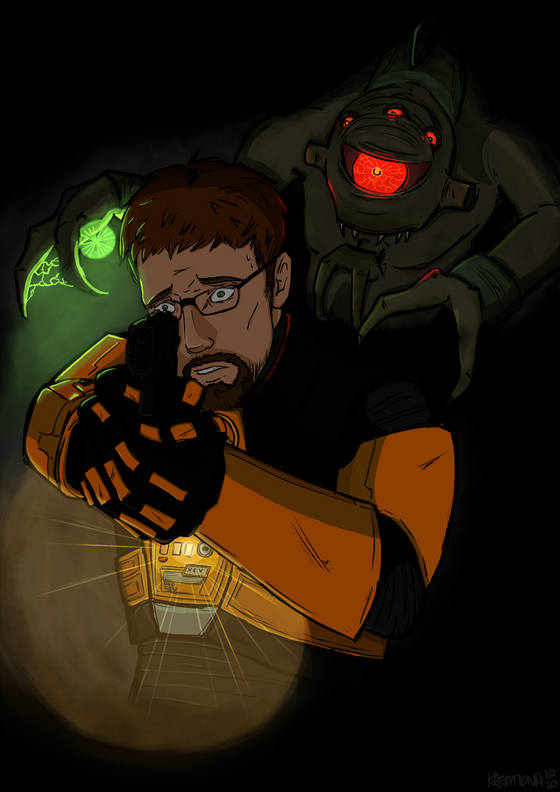 Hunted: a scene from my fanfiction that I decided to draw. When there's a section for writing, I'll put it there.
