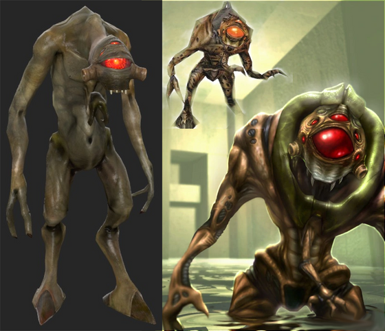 Does anyone think that the Vortigaunts in Half-Life 1 look so different because they've been modified similar to Combine soldiers?