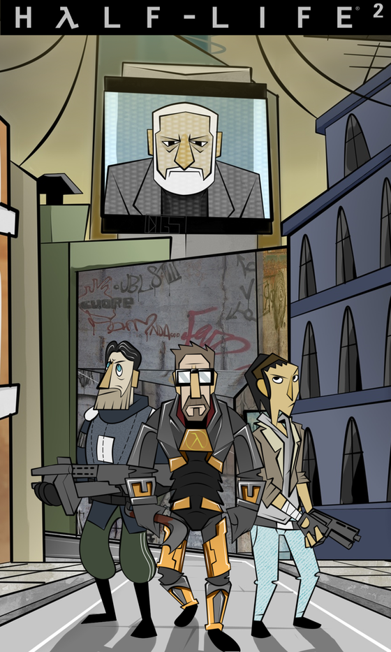 My first Half-life fanart, which was made a year ago.