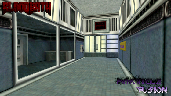 Final screenshot of the lab Half-Life: Particle Fusion map. Messed up a rad value here so one of the panels is blue, lol.