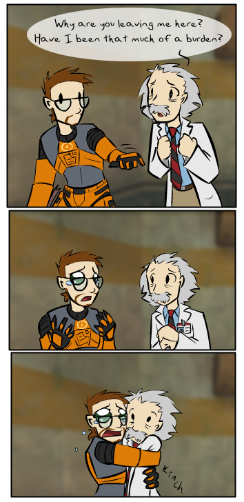 Just wanna share my favourite chibi-style HL fan art, by zarla.  You can see them all here: https://www.deviantart.com/zarla/gallery/49629396/half-life