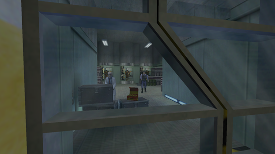 @half-life-daily posted about the empty HEV stations in the Level A depot. It turns out to be a deprecated entity, hence why there's no trace of it in-game.  So I fixed the entity and moved it a bit with entity editing tools, and here they are!