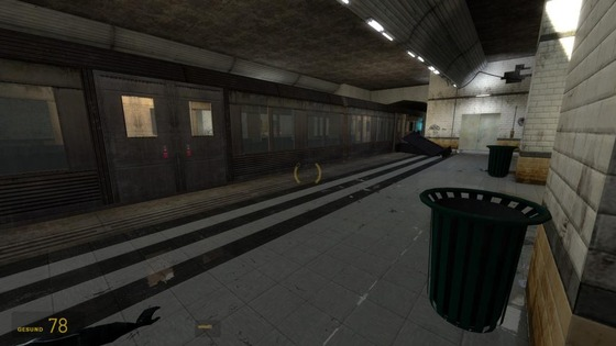 """""""Half-Life²: Reflection"""" mod - subway lvl. Dev lvl used for first playtests & same lvl with third art pass  (i mean more than 2 and less than 4 ... )"""