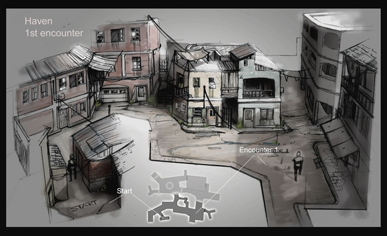 Here's some of the images and info about the cancelled 2011 EA Half-Life game that The Lost Story (which we covered yesterday) is based on.   Very little is known about the project but it appeared to be based in City 17 and a town called 'Haven' and featured some new Combine units.  https://combineoverwiki.net/wiki/Unannounced_Half-Life_project