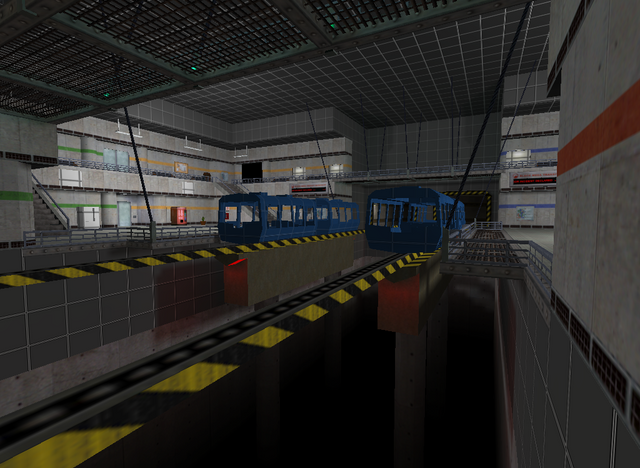 Lambda Generation Community Platform exclusive: Area 9 Central Transit Hub WIP! The lighting is all placeholder (apart from certain things like the green lights on the catwalk), some details are still missing or unfinished, and of course a few textures are still in greybox status, but it's coming along bit by bit! 😎