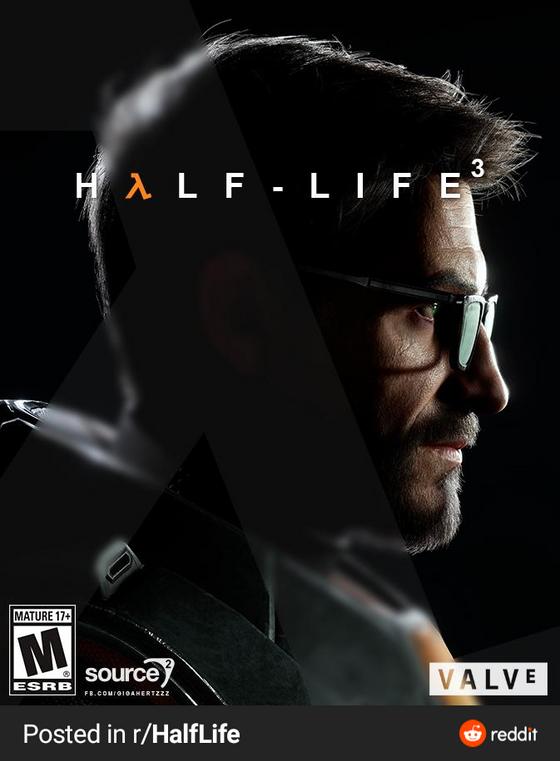 My Half-Life 3 cover art mockup. Credits to /u/sriramatrix for the amazing Gordon model.
