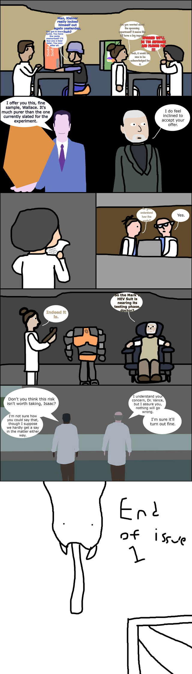 I'm proud to finally release the first issue of Bad Half-Life! I hope you all like it!