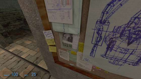In Dr. Kleiner's lab you can find a newspaper with a photo of Eli and his wife.