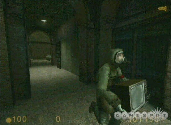 I just recrate the picture of the very first Half-Life 2 test level (Get Your Free TVs!)