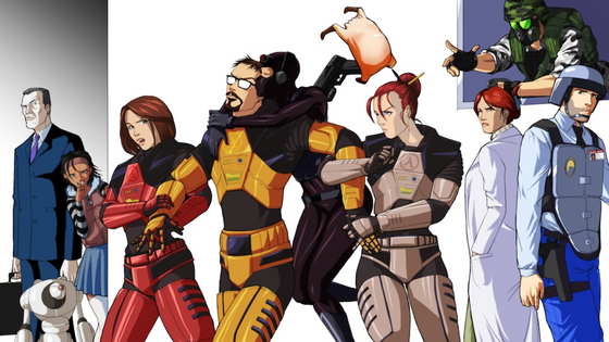 The Crew  (this is not my art - I cannot find the author so comment if you do)