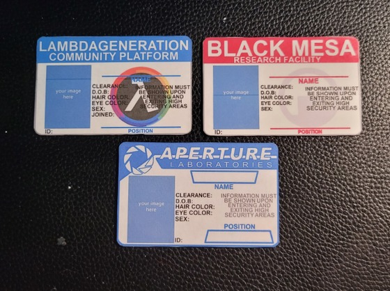 I made some custom Aperture ID tags thanks to the suggestion by @lunatic. I wanted them to look different compared to the Black Masa and Lambdageneration ones that I had made on my last post. If anyone has any suggestions on what you want me to make next, leave them down in the comments. Hope you enjoy this.