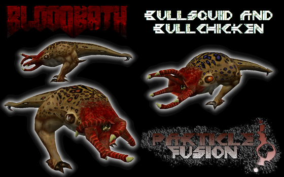 At long last, Half-Life: Particle Fusion's Bullsquid and Bullchicken model! Using the HD Bullsquid model as a base, I cleaned it up, added more polies, and made a special new variant that may seem familiar to some Half-Life fans!