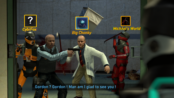 Me and the boys playing Black Mesa Co-Op.