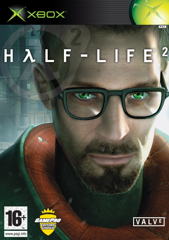 why is gordon freeman smirking on the half life 2 cover? like what is he happy about?
