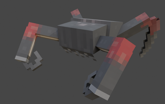 Poison Headcrab for Half-Life: Java Edition. Rendered in Blender with Cycles.