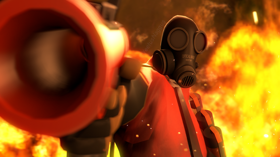 MEET THE PYRO (The rule allows anything Valve related so I posted this, enjoy)