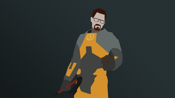 Made A Abstract Wallpaper For Half-Life Games  (Made With Photoshop)