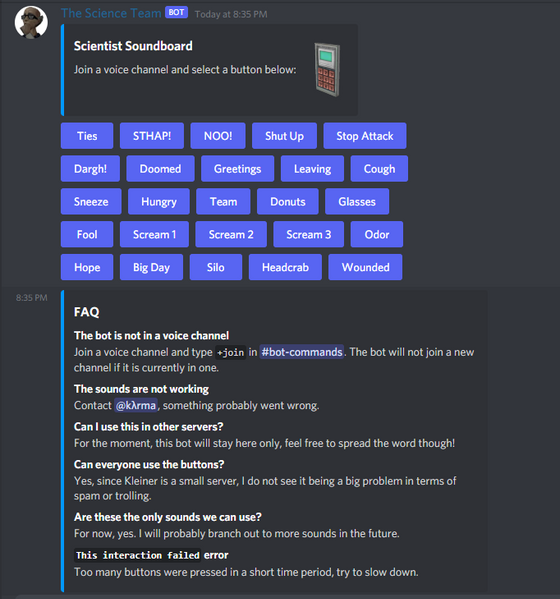 I don't think I actually mentioned this here, but I made a scientist soundboard for my server 😂