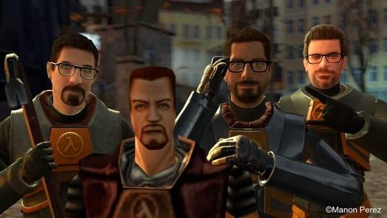 All Gordon Freeman version (Half Life 1 and 2 , Half Life Alyx and Hunt down the Freeman) ©Manon Perez
