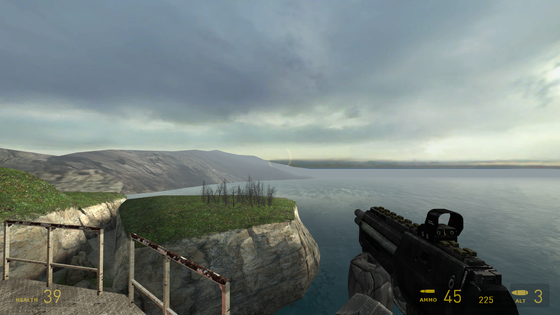HALF-LIFE and its gorgeous skies.