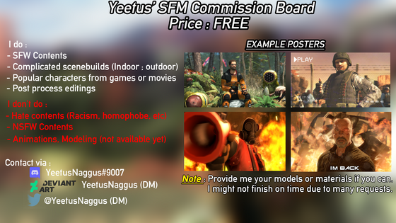 So I'm making commissions now. If anyone wanna interested ;)