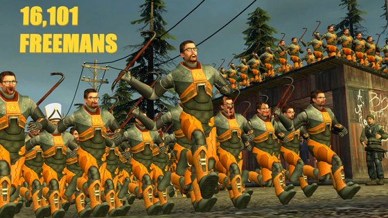 Gongrats to everyone for breaking the all-time peak in Half-Life 2! #BreakingTheBar