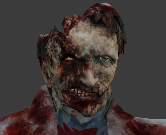 Behold: gordon_schizophrenia.jpg  Normally Black Mesa zombies' faces are frozen. My friend recently fixed that for an upcoming animation of mine. The second image is what they look like normally.