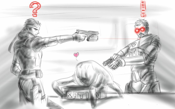 this one, i believe, from 2017, when i drew it for mgs or hl anniversary (or both)