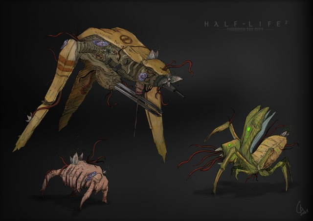 """I'm working on some parasite mutation for the Mod """"Half-Life : Through The City""""."""