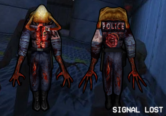 Zombified security guards!