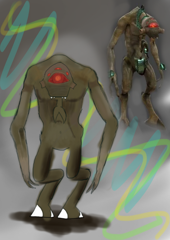 Look Eli! I created an image of one of our Vortigaunt friends!  What's that? It's a crude representation? Well, it's certainly got detail than one of their own paintings! It doesn't glow green, though. Unfortunately.