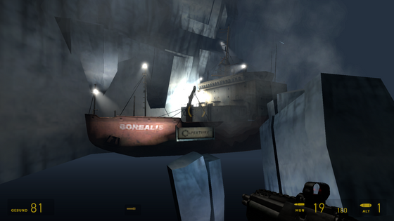 this is probably already found out but i wanted to point out you can find both the borealis and the hallway from this cutsene out of bounds and until now i didnt know this cutsene played in the arctic which is super interessting to know!