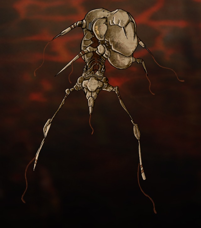 """First draft / sketch for a Combine made Parasite. Still work in progress... For the Mod """"Half-Life : Radiated""""."""