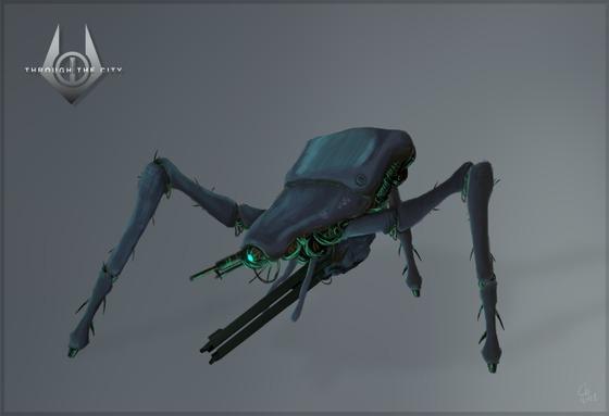 "Strider concept for the mod ""Half-Life : Through The City""."