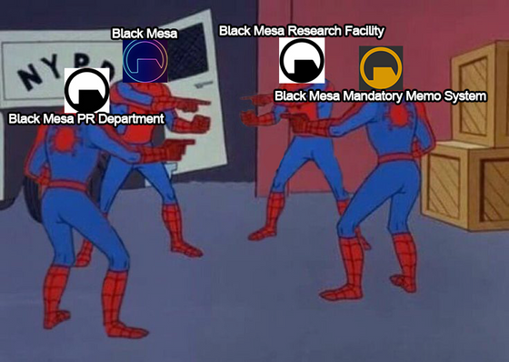 Who is the real one? or the main account? I'm confused @black-mesa-pr @blackmesaofficial @blackmesa @blackmesamms