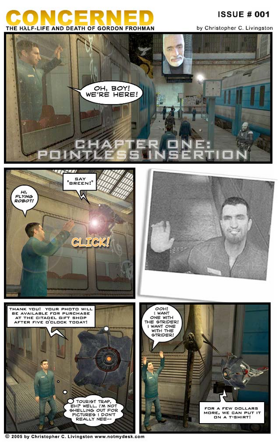 Half-Life Comic Classic - Concerned  Read here: http://www.screencuisine.net/hlcomic/archive/