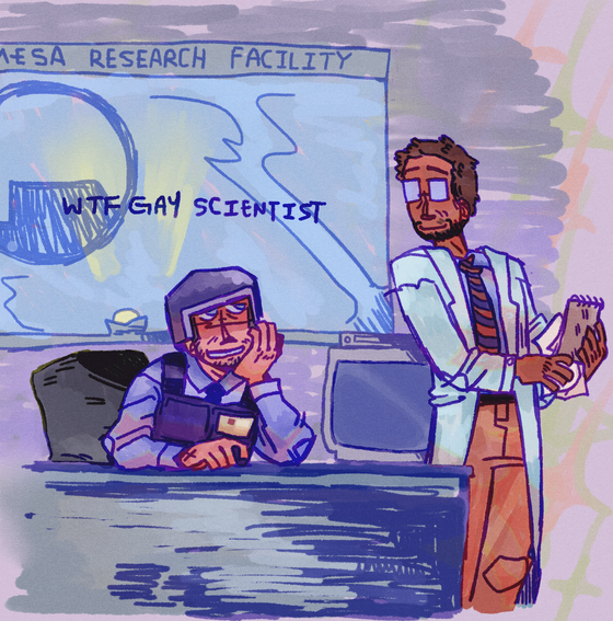 some more old art from a couple months back that i neglected postin   #barneycalhoun #gordonfreeman #benry #hlvrai