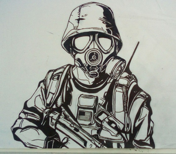 Another one of my old artworks, Corporal Adrian Shephard.