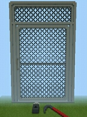 lol why would someone do this? Yeah as you can see i actually made the fence door from half life 2 in minecraft. Also with a crowbar and a lockpad too.