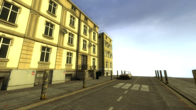 In this post I would like to show you my little street.   What's the purpose of this level?   I practiced creating outdoor city environments using some reference photos I took. Really like this one.