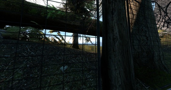 In Half-Life 2 Episode 2,  in the map ep2_outland_10, after Gordon and Alyx come out of the tunnel and head to the place where they will be ambushed by the Combine, when you drive up the road, somewhere in the middle of the road you will hear the sound of a hunter. This hunters appear when the player triggers the event, these hunters appear behind the fence and it is very difficult to see them.