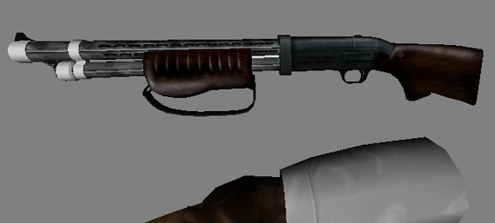 Well, here's the new Particle Fusion semi-auto 20 gauge shotgun. The first image is the final model, and the one below is the original version I was never quite happy with. I saved it regardless though for those who may want to use it in the future.