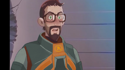 | Anime Gordon in the Real |  Made an edit of a background character from 'Astro Boy' to look like good ole (HLA) Dr. Freeman since the OG was already pretty close!   Be honest... Who else wants to see a fully animated Half Life Anime?