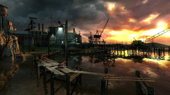 This is Half Life 2's beta ravenholm, most pretty and calm place ever imo.