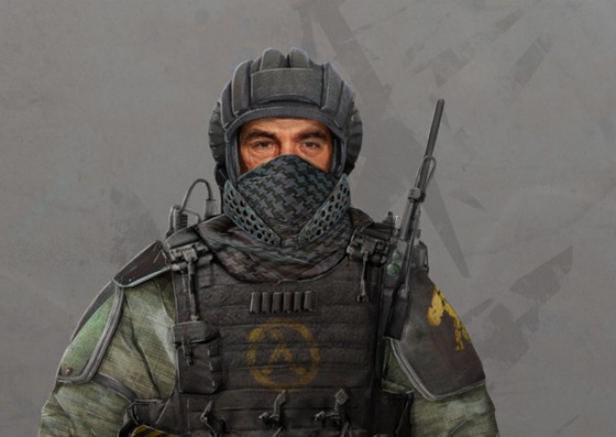 """Armored Rebel. Concept Art for the Mod """"Half-Life : Radiated"""""""