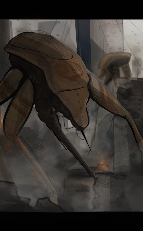 My biggest/most detailed Half-Life 2 fanart I've done so far Striders are dope as hell!