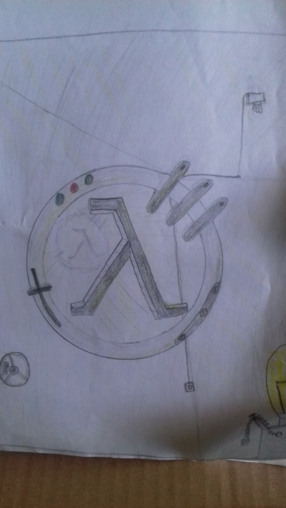 Here is a cool little Lambda I drew in class when I was a kid.