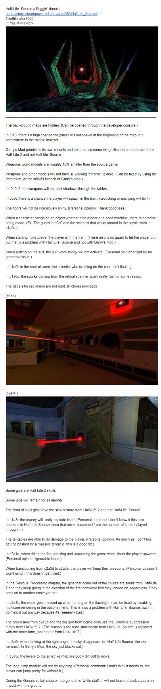 Half-Life: Source will work in Garry's Mod.