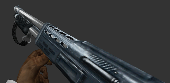 Even though I've already posted this shotgun before, I figured I'd show the version without the chrome overlay. Enjoy.