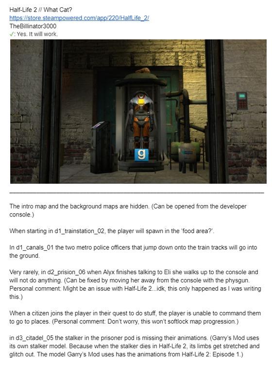 Half-Life 2 will work in Garry's Mod
